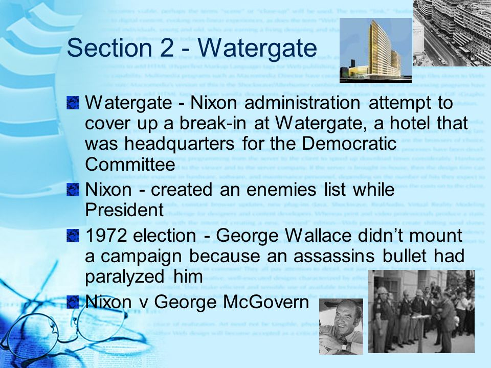 Section 2 - Watergate