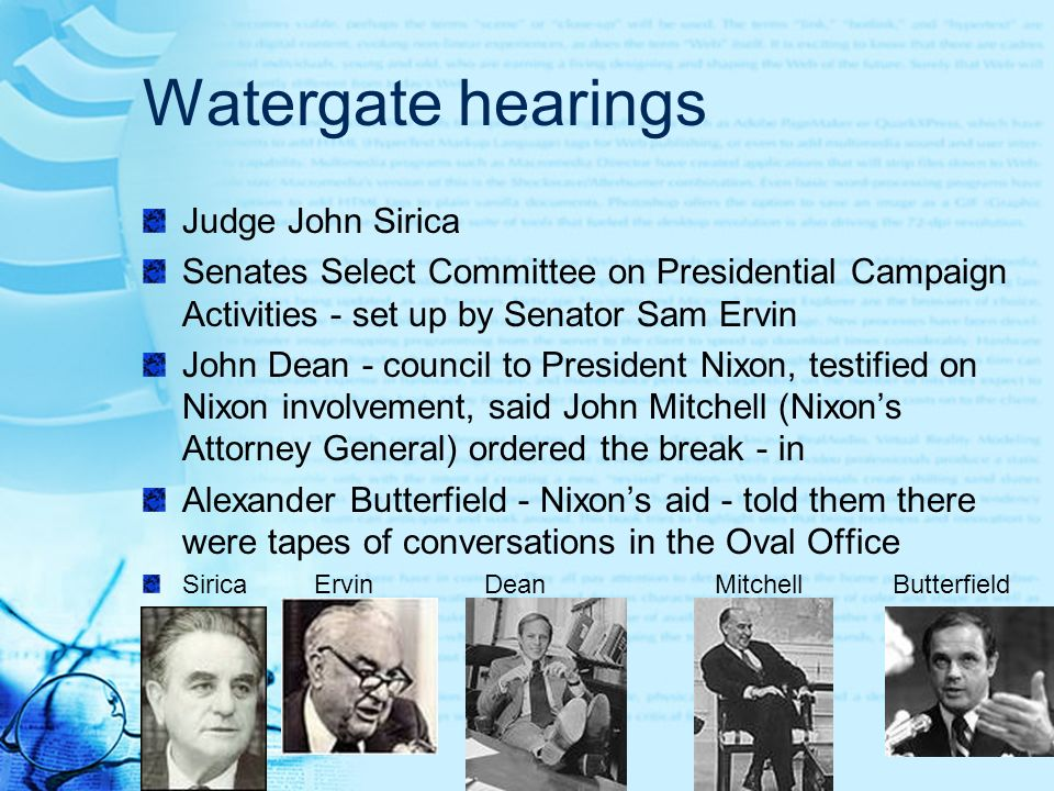 Watergate hearings Judge John Sirica