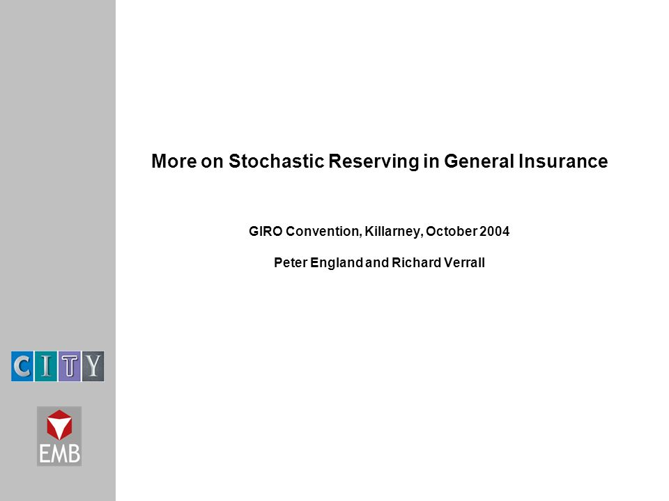 stochastic claims reserving methods in insurance pdf