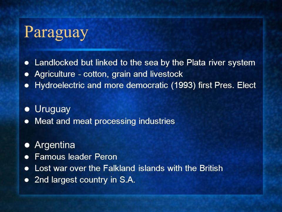 Paraguay Uruguay Argentina