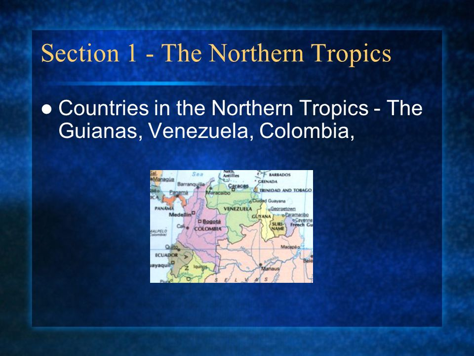Section 1 - The Northern Tropics