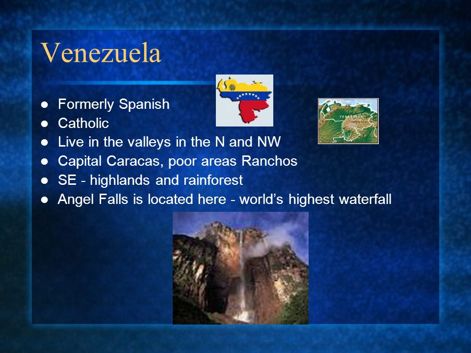 Venezuela Formerly Spanish Catholic