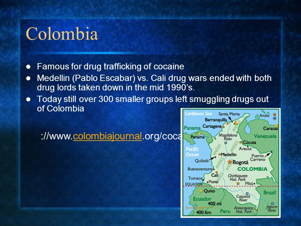 Colombia ://www.colombiajournal.org/cocainephotos.htm