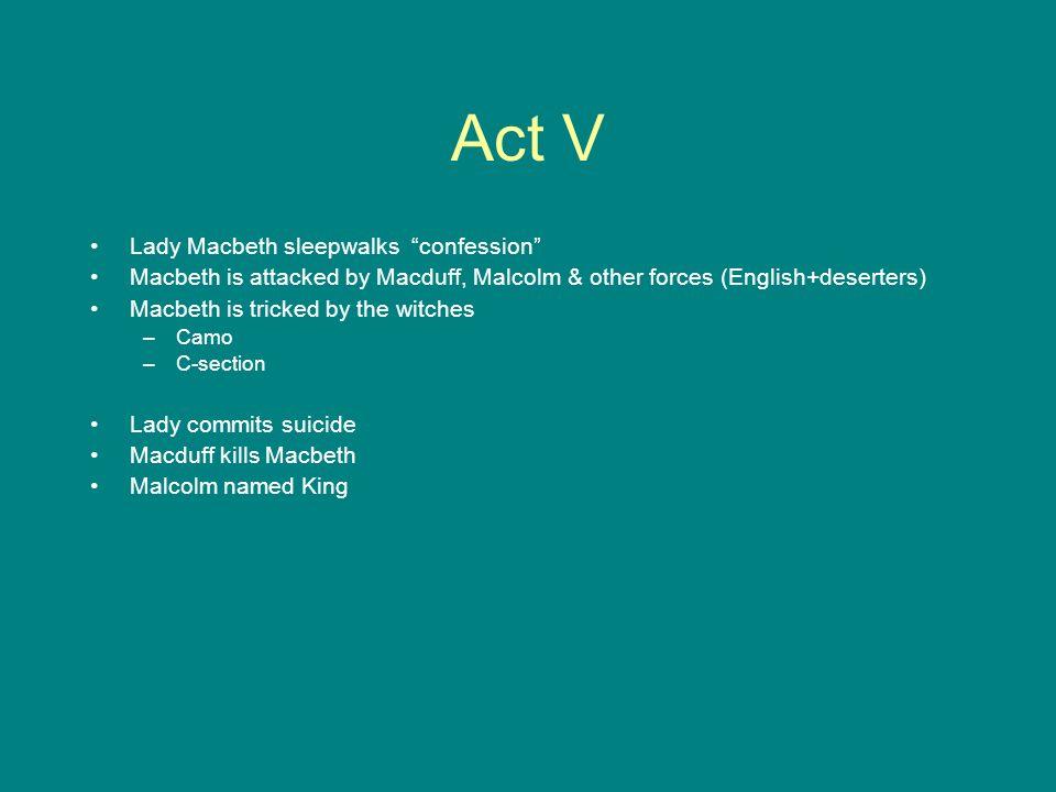 Act V Lady Macbeth sleepwalks confession