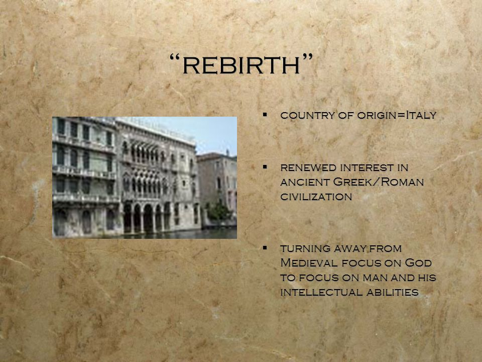 rebirth country of origin=Italy
