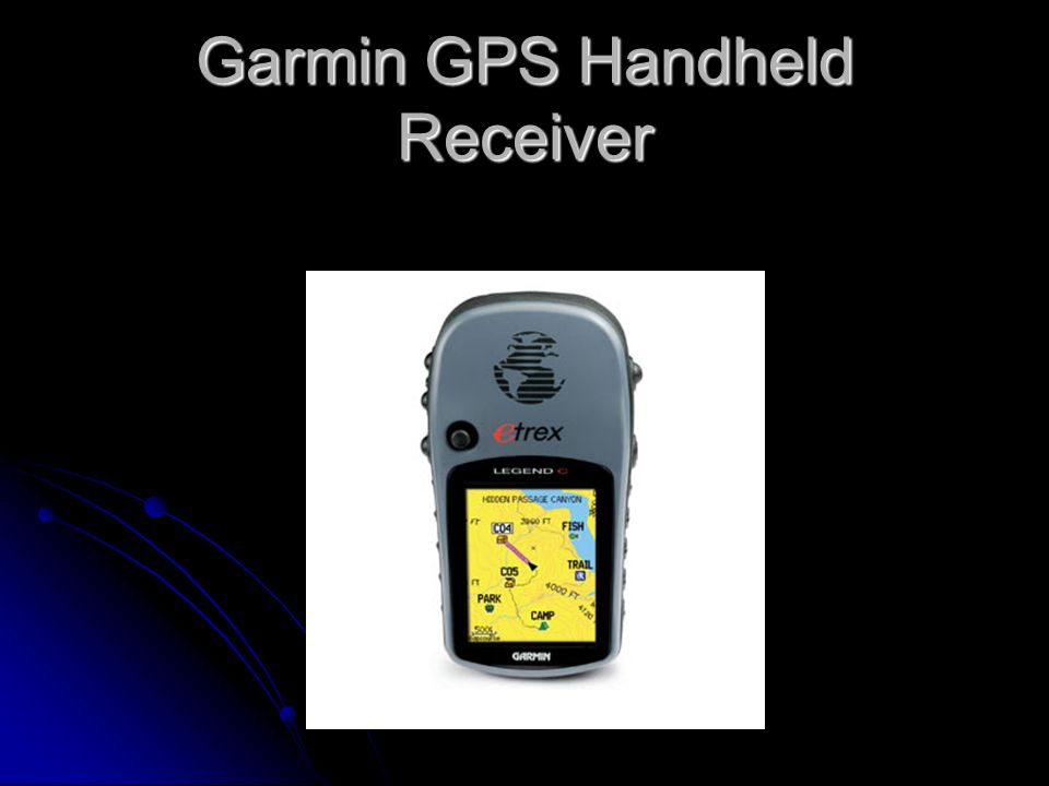 Garmin GPS Handheld Receiver
