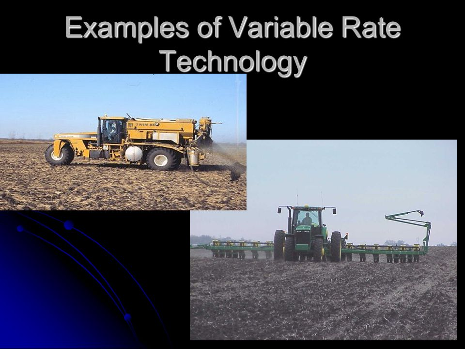 Examples of Variable Rate Technology