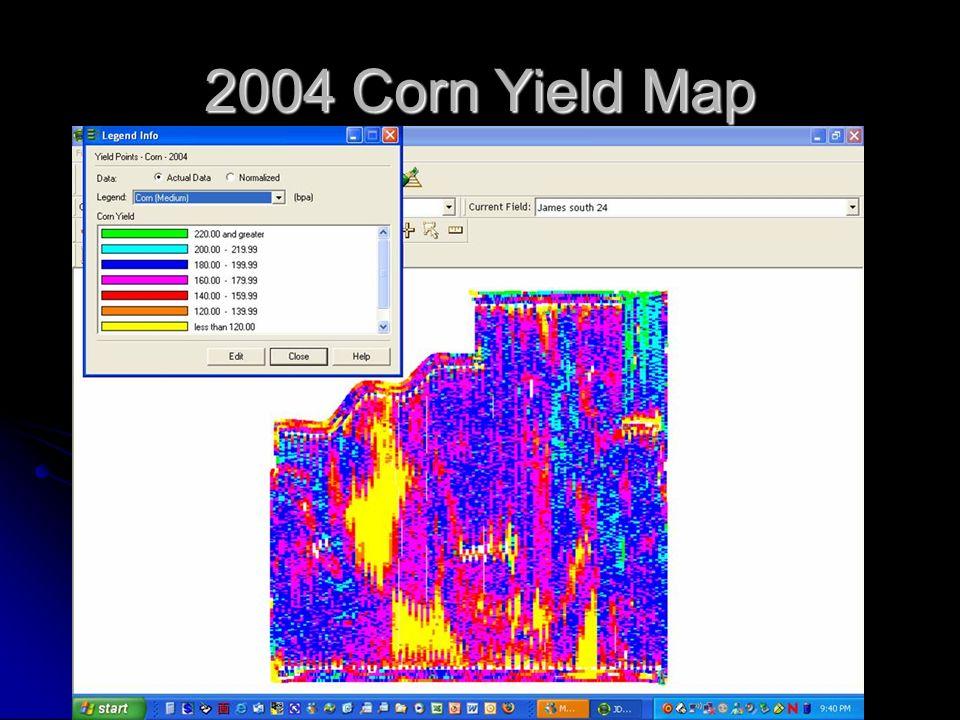 2004 Corn Yield Map