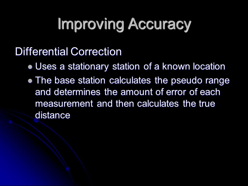 Improving Accuracy Differential Correction