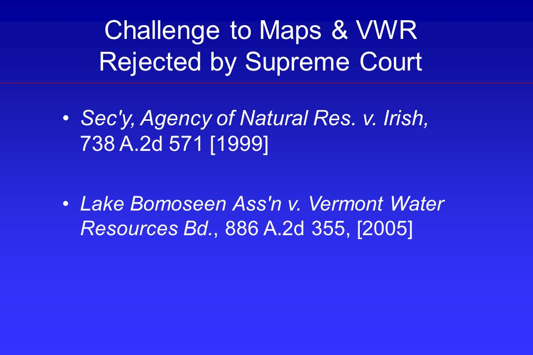 Challenge to Maps & VWR Rejected by Supreme Court