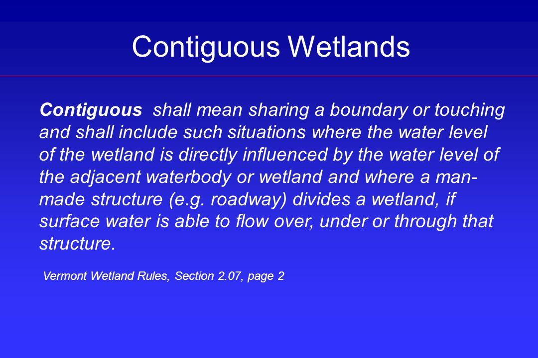 Contiguous Wetlands