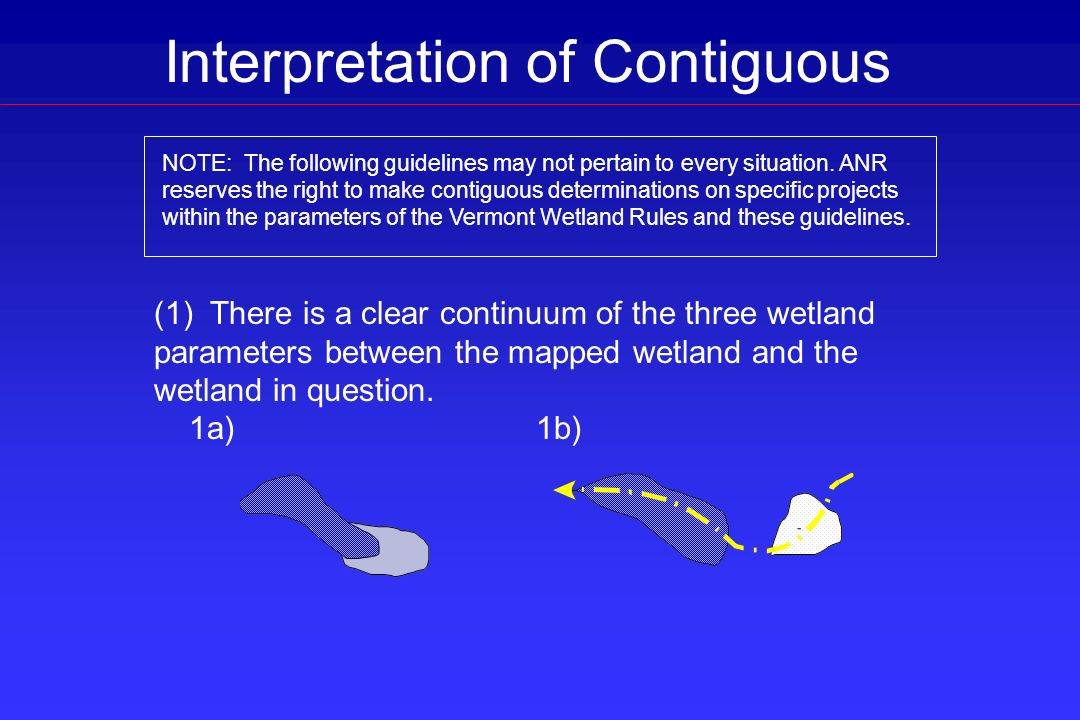 Interpretation of Contiguous