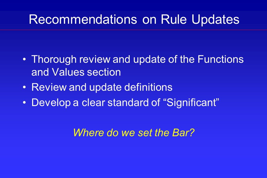 Recommendations on Rule Updates
