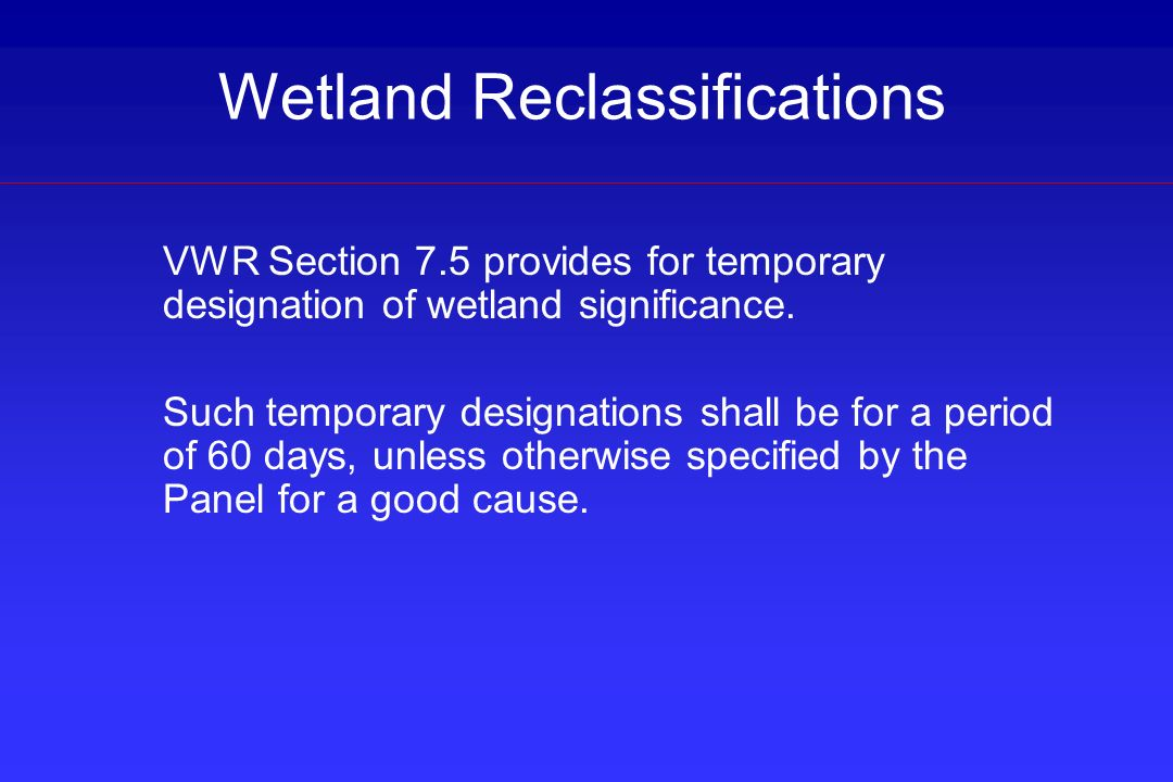 Wetland Reclassifications