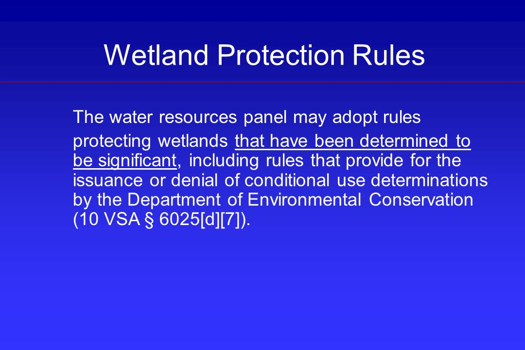 Wetland Protection Rules