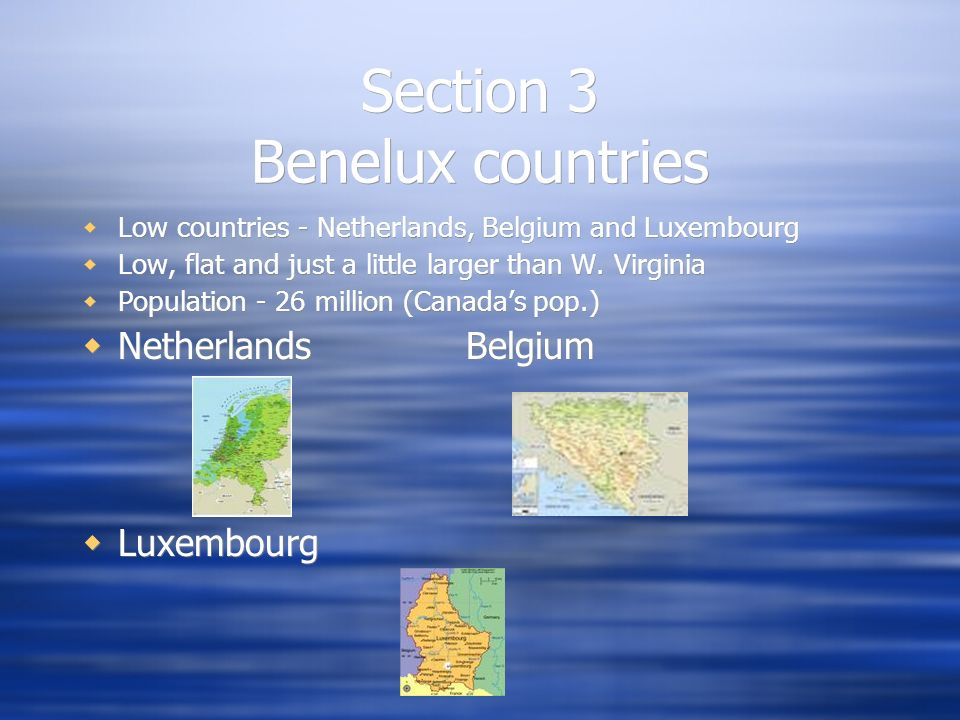 Section 3 Benelux countries