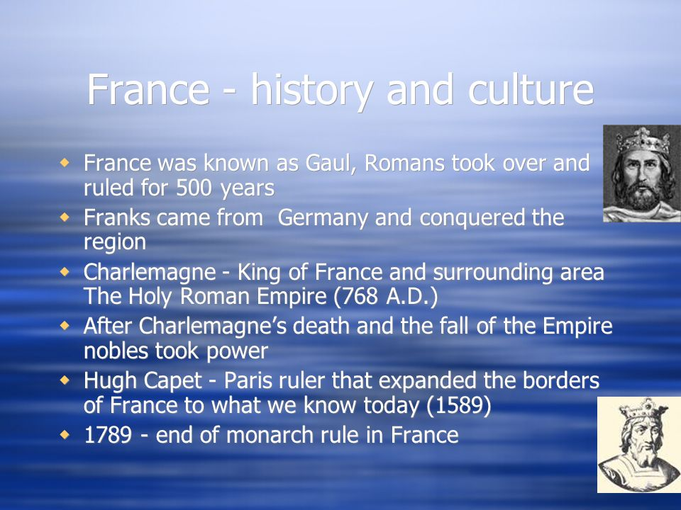 France - history and culture
