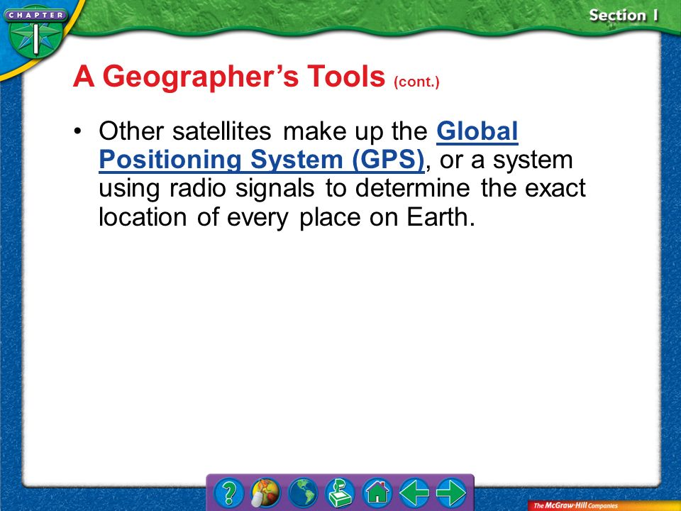A Geographer's Tools (cont.)