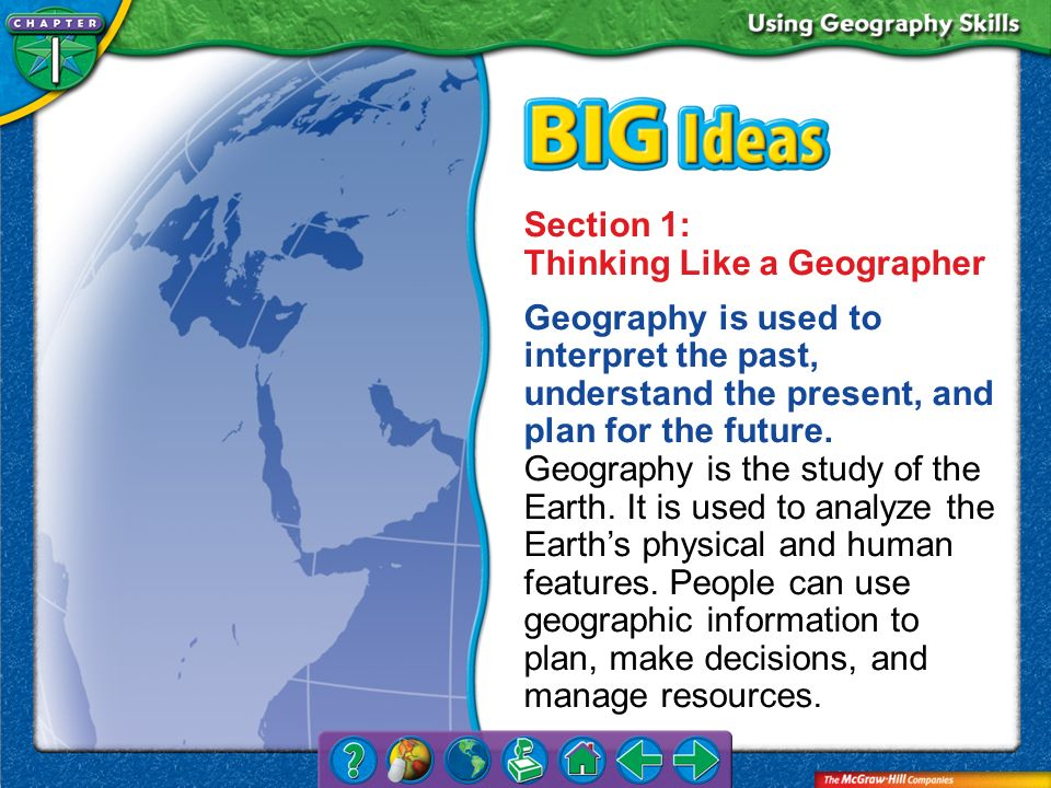 Section 1: Thinking Like a Geographer