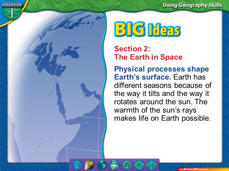 Section 2: The Earth in Space