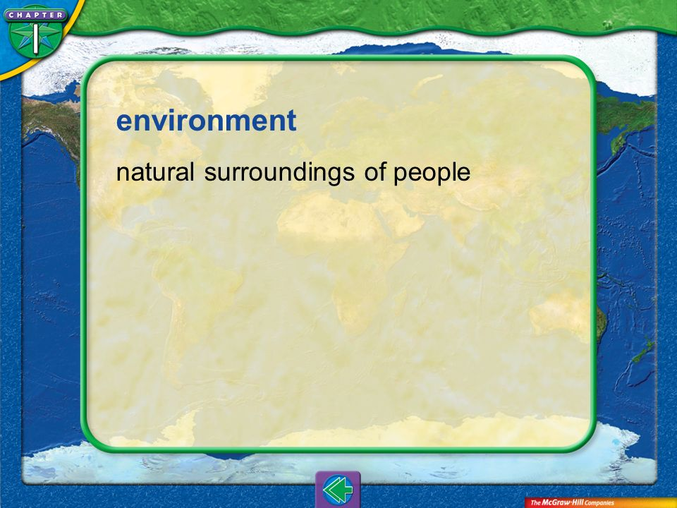 environment natural surroundings of people Vocab4