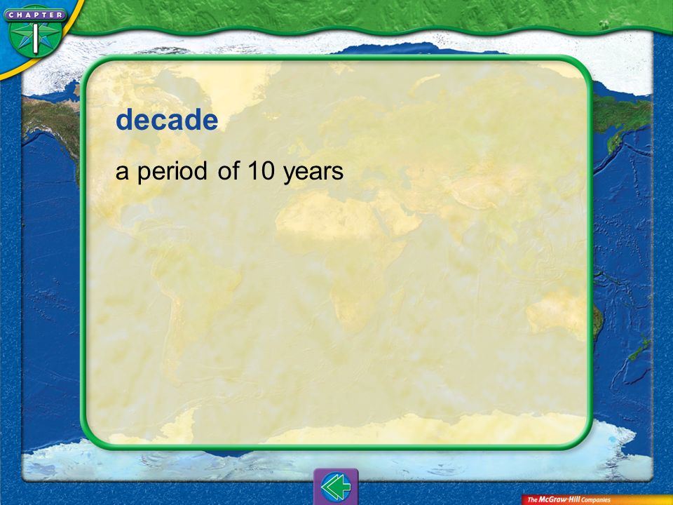 decade a period of 10 years Vocab5