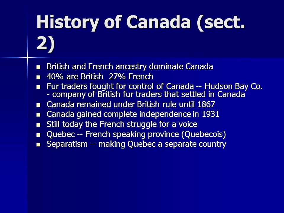 History of Canada (sect. 2)