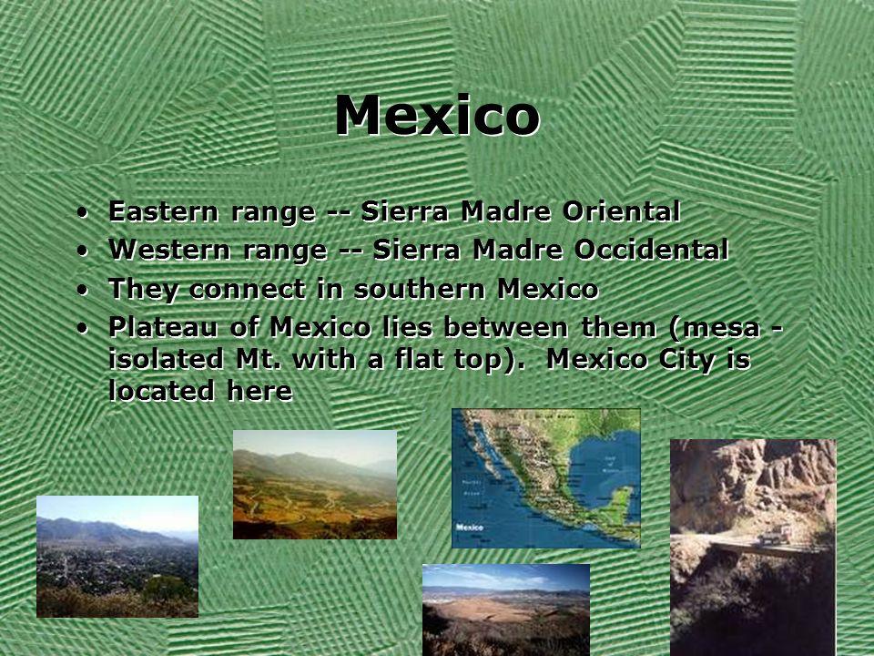 Mexico Eastern range -- Sierra Madre Oriental