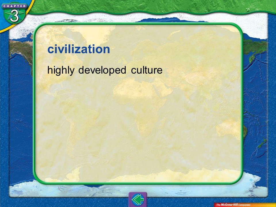 civilization highly developed culture Vocab16