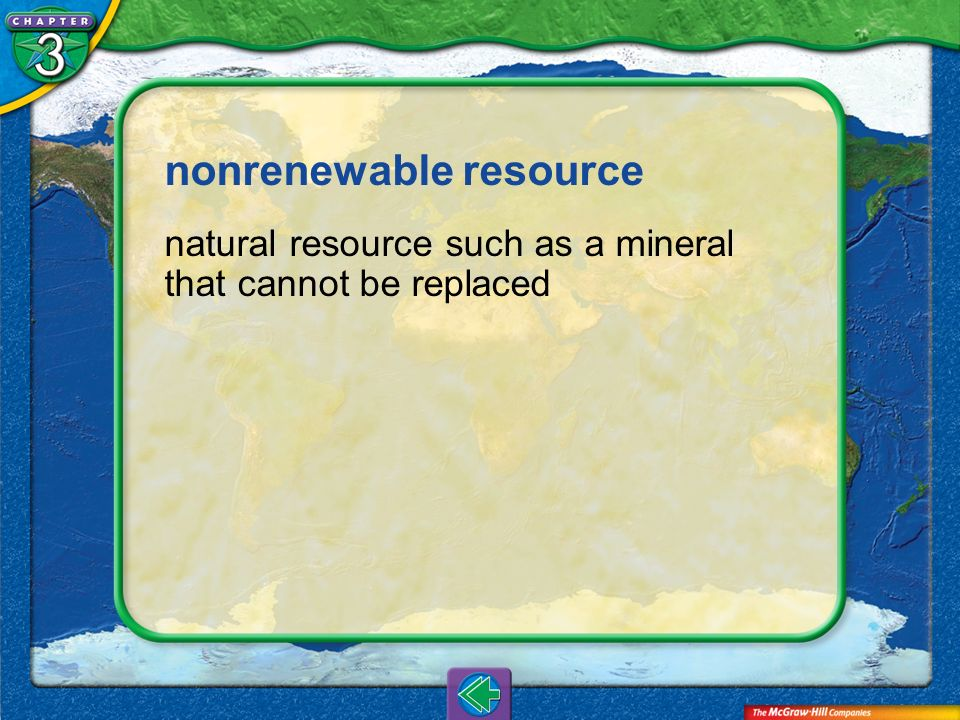 nonrenewable resource