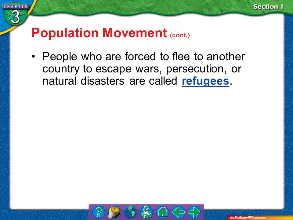 Population Movement (cont.)