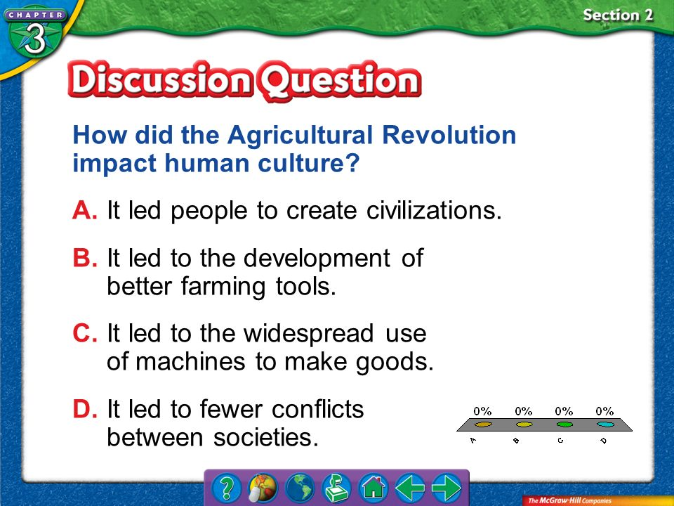How did the Agricultural Revolution impact human culture