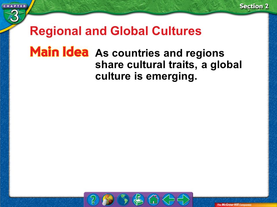 Regional and Global Cultures