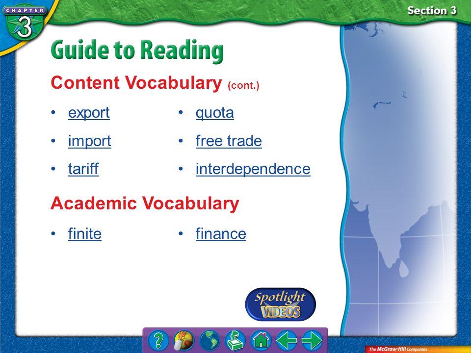 Content Vocabulary (cont.)