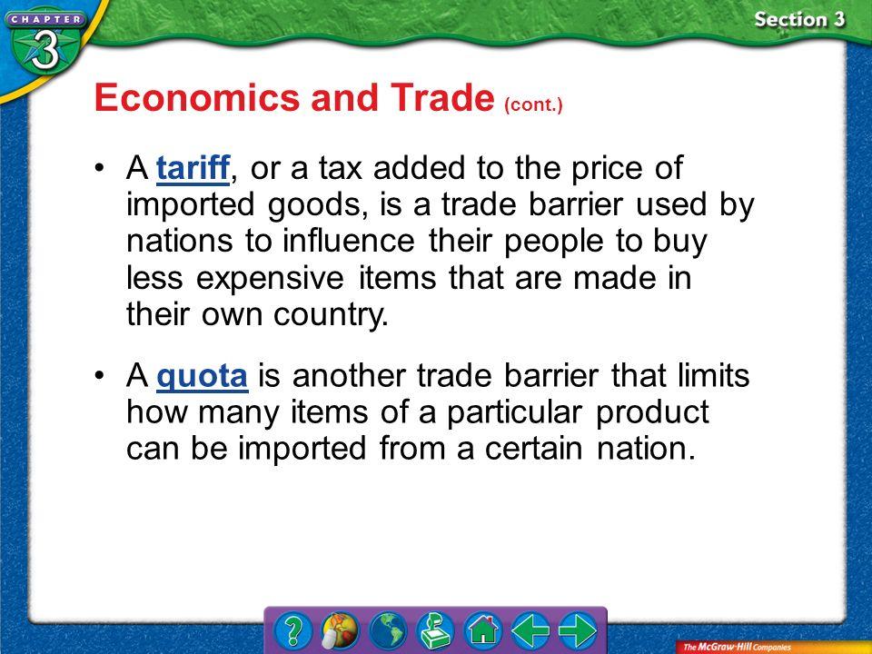 Economics and Trade (cont.)