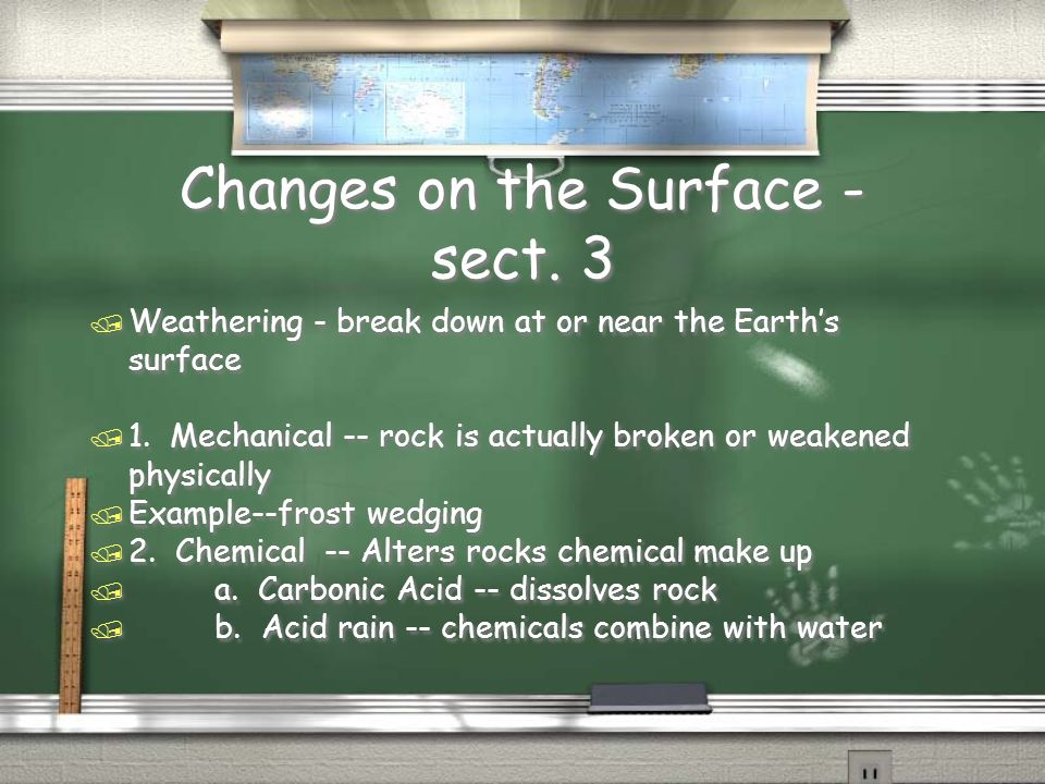 Changes on the Surface - sect. 3