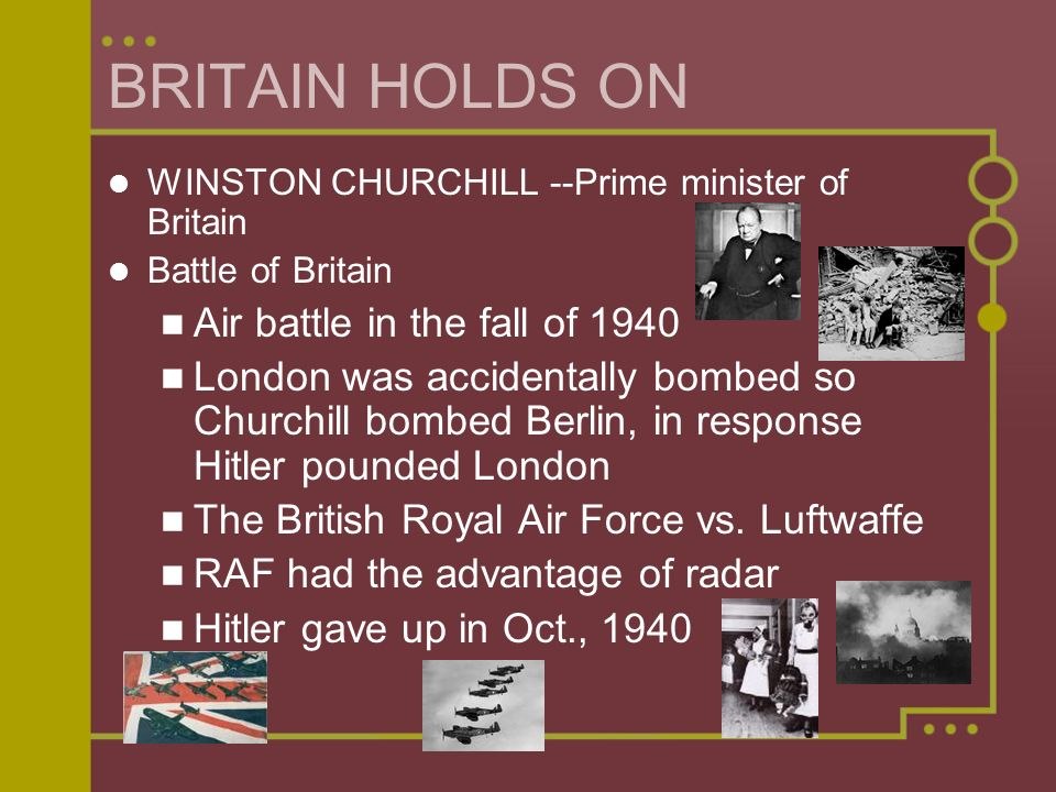 BRITAIN HOLDS ON Air battle in the fall of 1940