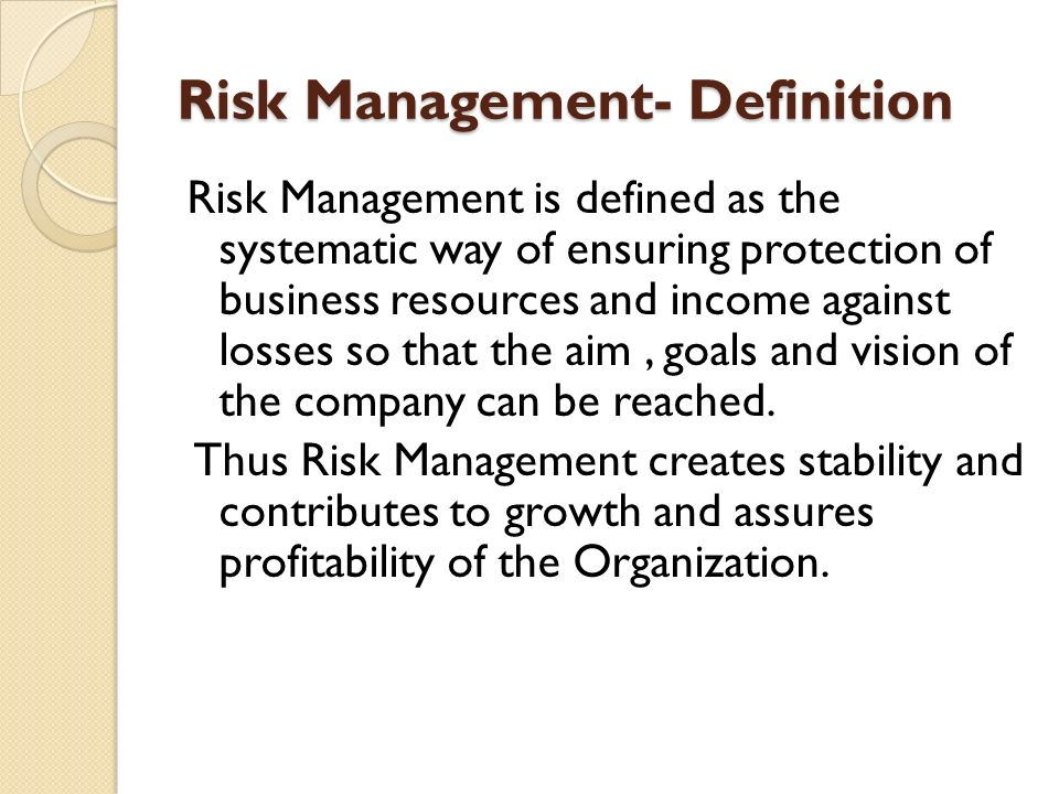 How can manager against risk of