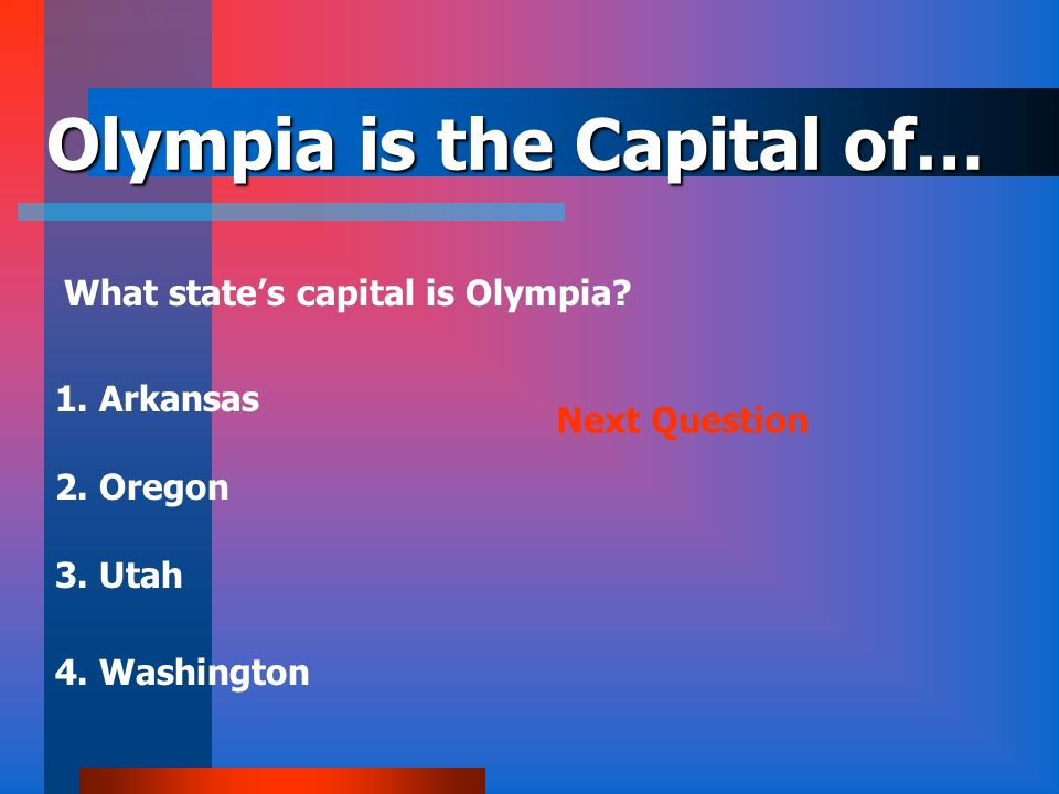 Olympia is the Capital of…