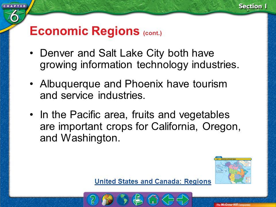 Economic Regions (cont.)