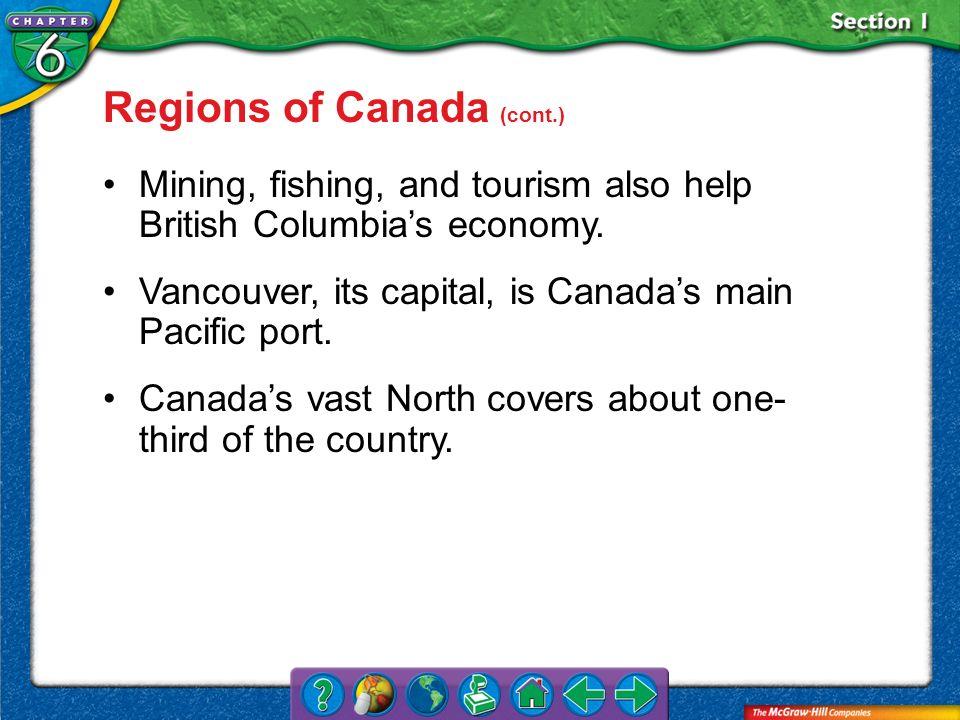 Regions of Canada (cont.)
