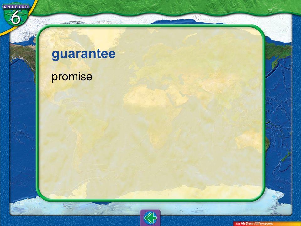 guarantee promise Vocab6