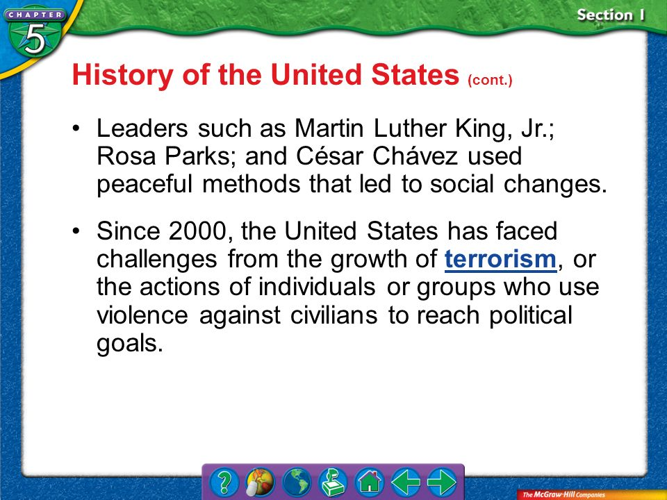 History of the United States (cont.)