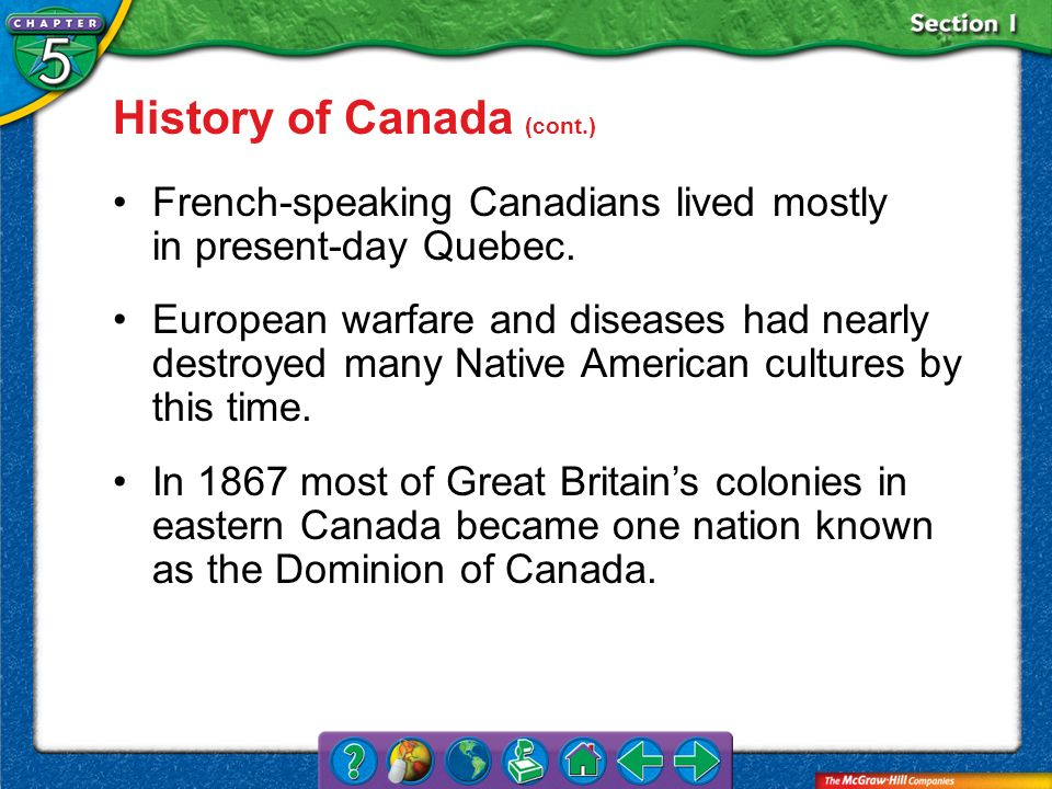 History of Canada (cont.)