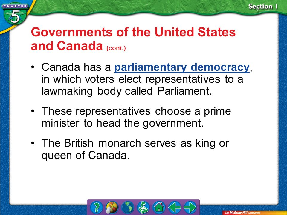Governments of the United States and Canada (cont.)
