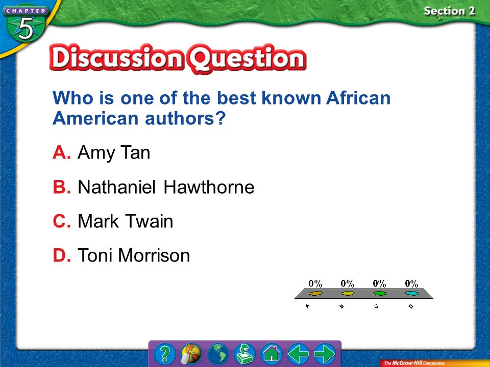 Who is one of the best known African American authors A. Amy Tan