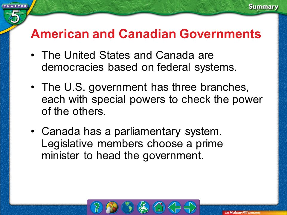 American and Canadian Governments