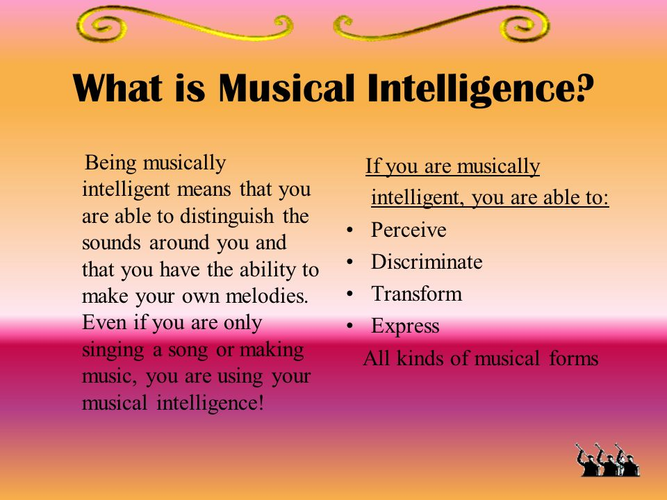 What is Musical Intelligence