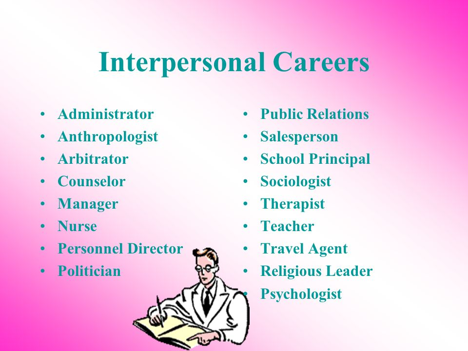 Interpersonal Careers