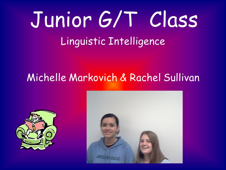 Junior G/T Class Linguistic Intelligence